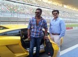 Ajay Devgn & Anil For Tezz Race On India F1 Track