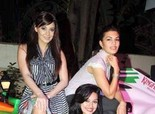 Jacqueline Fernandez and Minissha Lamba at Force India Party