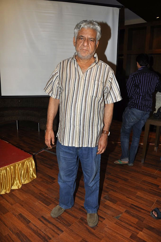 Om Puri at the Press meet of movie 'Khap'