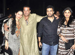 Sanjay Dutt & Shilpa Shetty at Super Fight League's After-Party