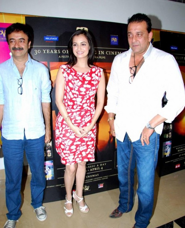 Sanjay Dutt, Arshad Warsi & Dia Mirza at Vidhu Vinod Chopras Film Festival - 2nd April, 2012