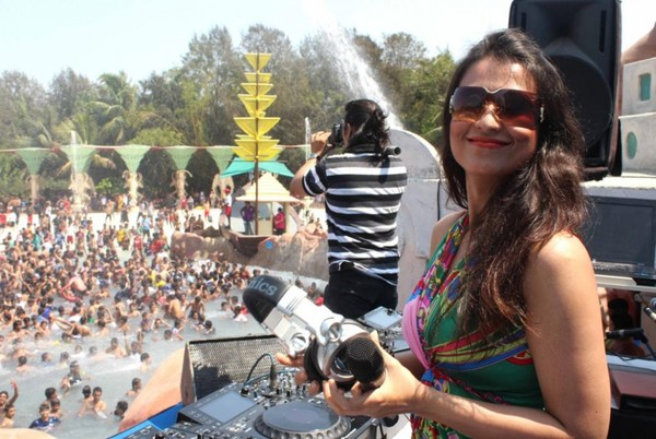 Celebs celebrating 'Holi' at Water Kingdom in Mumbai