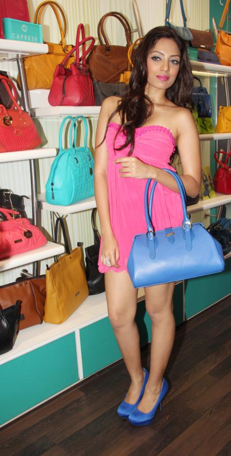 Miss India 2013 Navneet Kaur Dhillon, Sobhita Dhulipala, Zoya Afroz at Caprese Bags' Spring Summer 2013 Collection