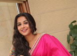 Vidya Balan's Hot Photoshoot in Pink Saree for 'Ghanchakkar' Movie