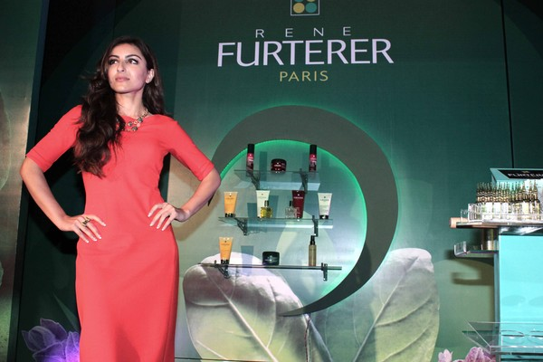 Soha Ali Khan Launches Rene Furterer Cosmetic Products