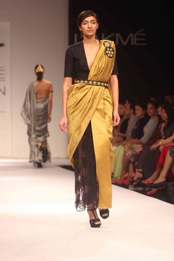Nikhil Thampi Show on Day 1 of Lakme Fashion Week Winter Festive 2013, Mumbai