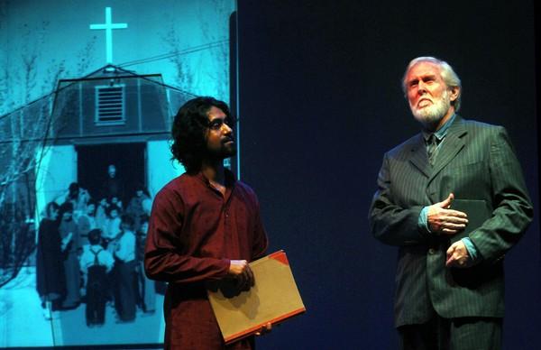 Tom Alter staging the play 'Teesvin Shatabdi' in Guwahati